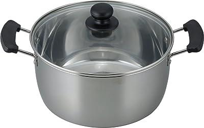 和平フレイズ 両手鍋 煮物 カレー シチュー レシード 24cm IH対応 ガラス蓋付 ステンレス製 RR-6891
