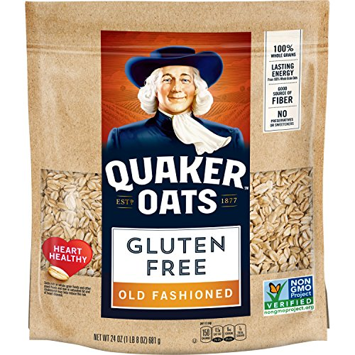 Quaker Gluten Free Old Fashioned Oats, Non-GMO Project Verified, 24 Ounce, Resealable Bag