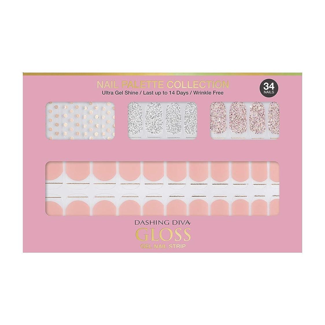 荒らす海洋ヘアダッシングディバ グロスジェル ネイルストリップ DASHING DIVA Gloss Gel Nail Strip DGNP01-DURY+ オリジナルジェル ネイルシール Rosy #01 Dot Skirt