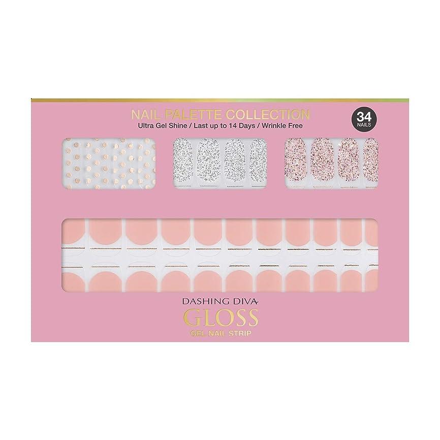 哲学的前兆痴漢ダッシングディバ グロスジェル ネイルストリップ DASHING DIVA Gloss Gel Nail Strip DGNP01-DURY+ オリジナルジェル ネイルシール Rosy #01 Dot Skirt