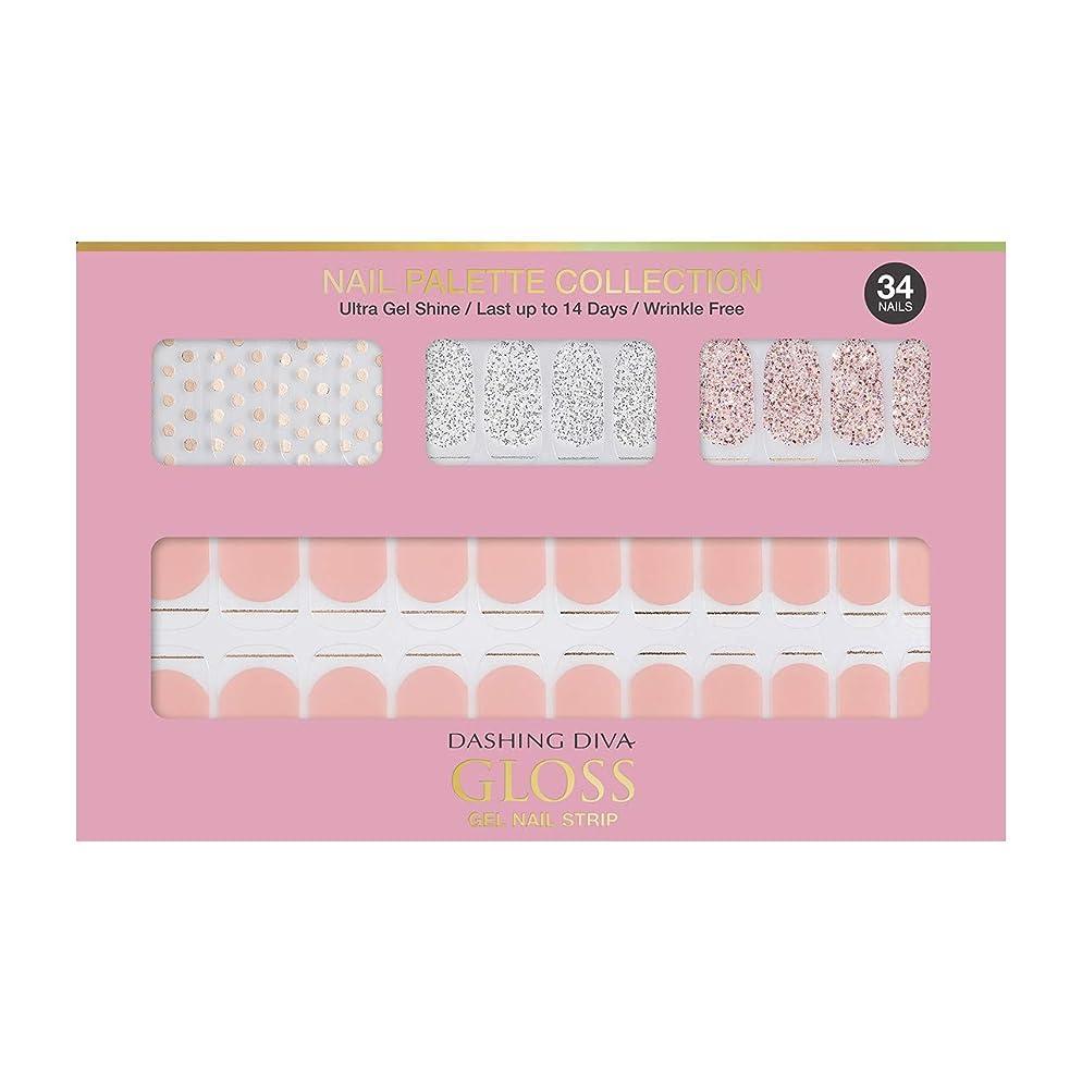 印象ビザ柱ダッシングディバ グロスジェル ネイルストリップ DASHING DIVA Gloss Gel Nail Strip DGNP01-DURY+ オリジナルジェル ネイルシール Rosy #01 Dot Skirt