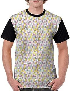 Tops O Neck T Shirts,Tribal,Native American Folk Motif S-XXL Sleeves for Men