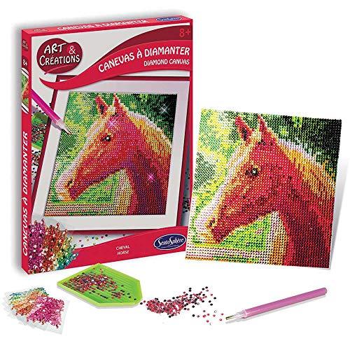 Strasssteen-afbeelding paard