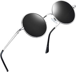 3181480b686 Joopin-Round Retro Polaroid Sunglasses Driving Polarized Glasses Men  Steampunk