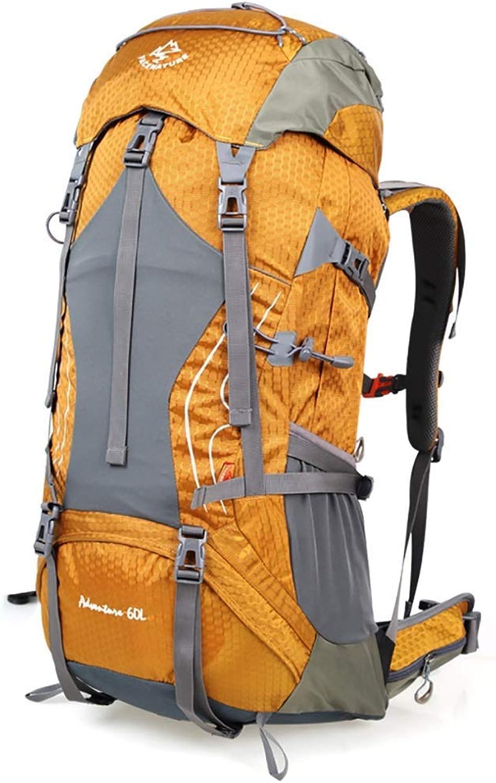 Giow Wandern Tasche Outdoor Bergsteigen Tasche lssig Sport Rucksack mnner und Frauen groe kapazitt wasserdichte reiserucksack 60L Wanderruckscke (Farbe  C, gre  60L-32  27  75CM)
