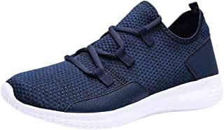 EMMM Herren Hollow Mesh Sneakers rutschfeste, Abriebfeste Laufschuhe Turnschuhe Sportschuhe StraßEnlaufschuhe Atmungsaktiv...