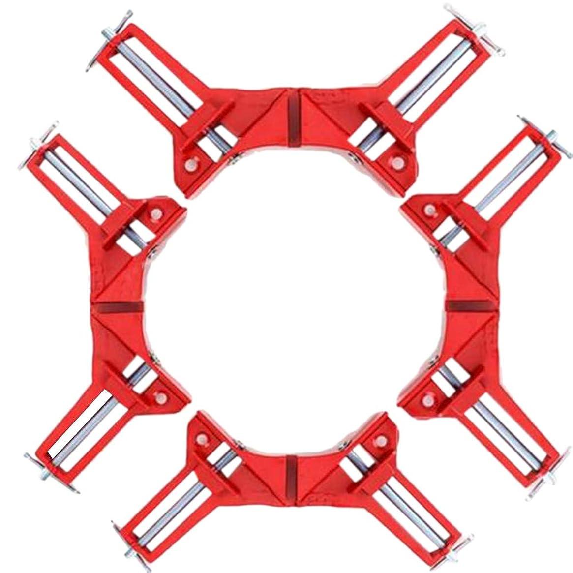 フォルダループ枯渇Gaoominy 4ピース頑丈な90度直角クランプdiyコーナークランプクイック固定水槽ガラスウッド額縁木工直角