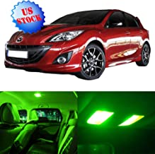 SCITOO Interior LED Lights Green Replacement for 2013-2017 Mazda 3 Accessories Package Kit 11Pcs