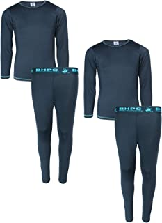 Beverly Hills Polo Club Boys 4-Piece Performance Thermal Underwear Set (2 Full Sets)
