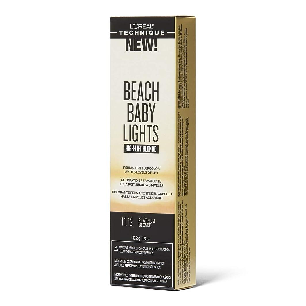 慎重ルーフパイルL'Oreal Paris L'Orealのビーチ赤ちゃんライトハイリフトプラチナブロンド11.12プラチナブロンド