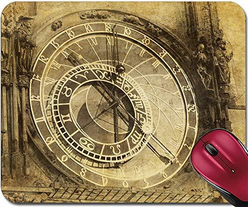 Mousepad Vintage Bild der Prager Astronomischen Uhr Orloj in der Altstadt von Prag