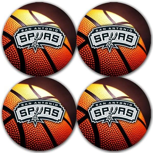马刺篮球橡胶圆形杯垫套装 4 包伟大的礼物创意圣安东尼奥