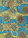 Roya Textile - Afrikanischer Baumwollstoff mit goldenen