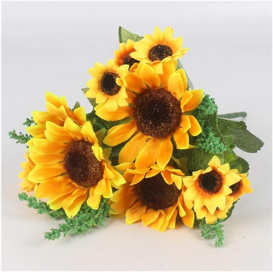 Free Shipping New Autumn Decoration 13 Heads Yellow Flow Silk New Shipping Free Shipping Sunflower Artificial