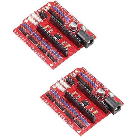 KKHMF 2個 Nano V3.0 I/O 拡張ボード NANO I/Oシールド NANO IOボード Arduinoに対応