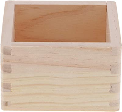 P Prettyia Estuche de Organizador Caja de Almacenamiento de Joyerías Material de Madera Accesorios Decorativos - 10x10x6cm: Amazon.es: Hogar