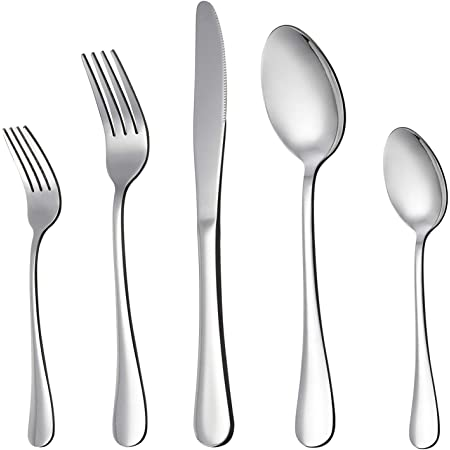 LIANYU 20 Piece Silverware Flatware Cutlery Set, Stainless Steel Utensils Service for 4, Include Knife Fork Spoon, Mirror Polished, Dishwasher Safe