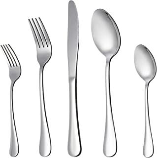 LIANYU 20 Piece Silverware Flatware Cutlery Set, Stainless Steel Utensils Service for 4,..