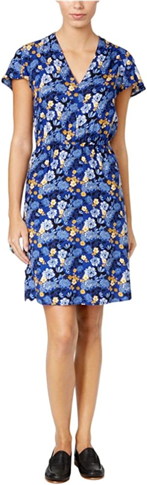G.H. Bass & Co. Womens Floral Print Shift Dress, Multicoloured, Large
