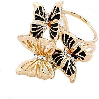 Anello per foulard, asciugamano, scialle, 3 farfalle clip