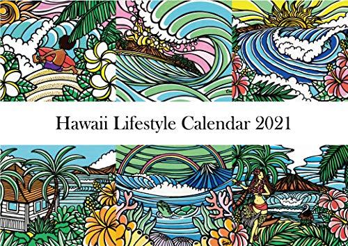 ハワイ ライフスタイル 壁掛けカレンダー 2021 見開きA3サイズ