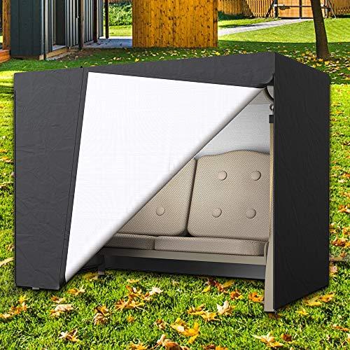 Dightyoho Funda para Balancín y Muebles de Jardín, Impermeable, Anti Rayos UV, Protecrora de Columpio, 160 x 120 x 170 cm(2 Asientos)