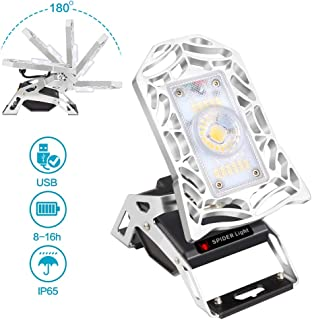 LED Rechargeable Lantern- Rover Mobile Task Light, Deformable LED Work Lights 1200 Lumen Rechargeable Task Light for Garage, Workshop,Camping, Hiking and Fishing…