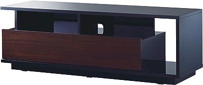 ハヤミ ELシリーズ 32~55型対応 アシンメトリーデザイン、ツートンカラーのテレビ台 TV-EL125B ブラック