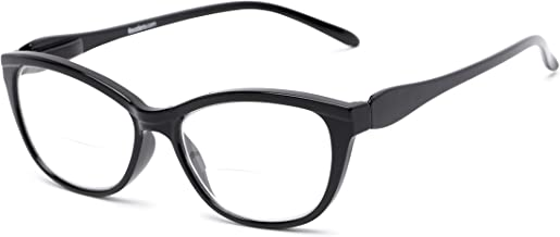 Readers.com Reading Glasses: The Ambrosia Bifocal Reader, Plastic Cat Eye Style for Women