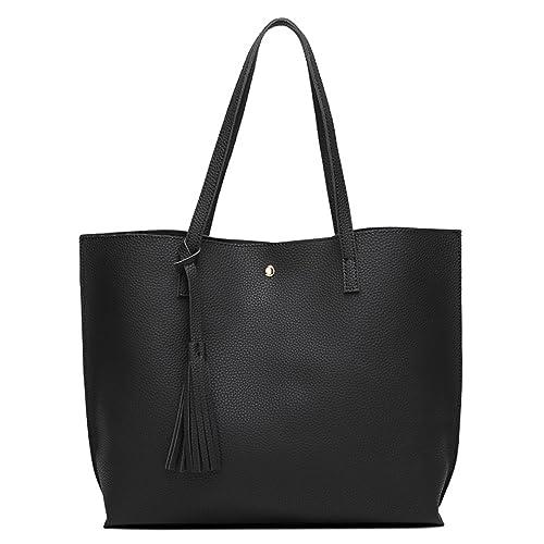 daf774380d Women s Soft Leather Tote Shoulder Bag from Dreubea