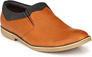 Levanse Matte Tan Snthetic Leather Corporate Casual Mocassin Shoes for Men/Boys