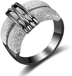 dnswez مشبك عريض خواتم أزياء متجمد خاتم للمرأة