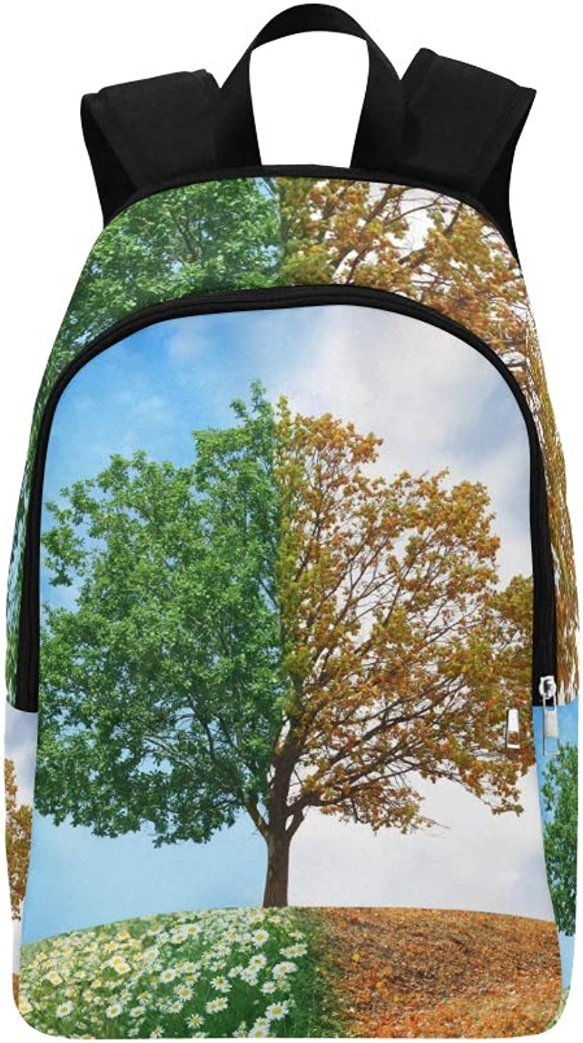 Conceptual Tree Summer Autumn Casual Daypack Travel Bag College School Backpack for Mens and Women