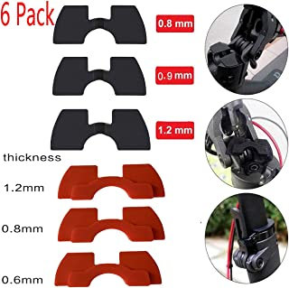 AngeliaSky 6 Pack Rubber Vibration Damper for Xiaomi M365 M187 Electric Scooter Accessories Parts Rubber Shock Absorber 3 Pcs Red and 3Pcs Black