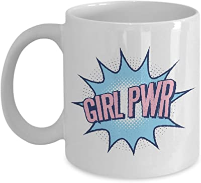 Girl Power コーヒーマグ フェミニスト 女性 エンパワーメント ポジティブ マインド受容 認識 女の子 女性 女性 励まし モチベーションアップ 11オンス