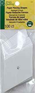 Dritz 3236 Paper Piecing Shapes, Diamond, 2-1/2-Inch (100-Count)
