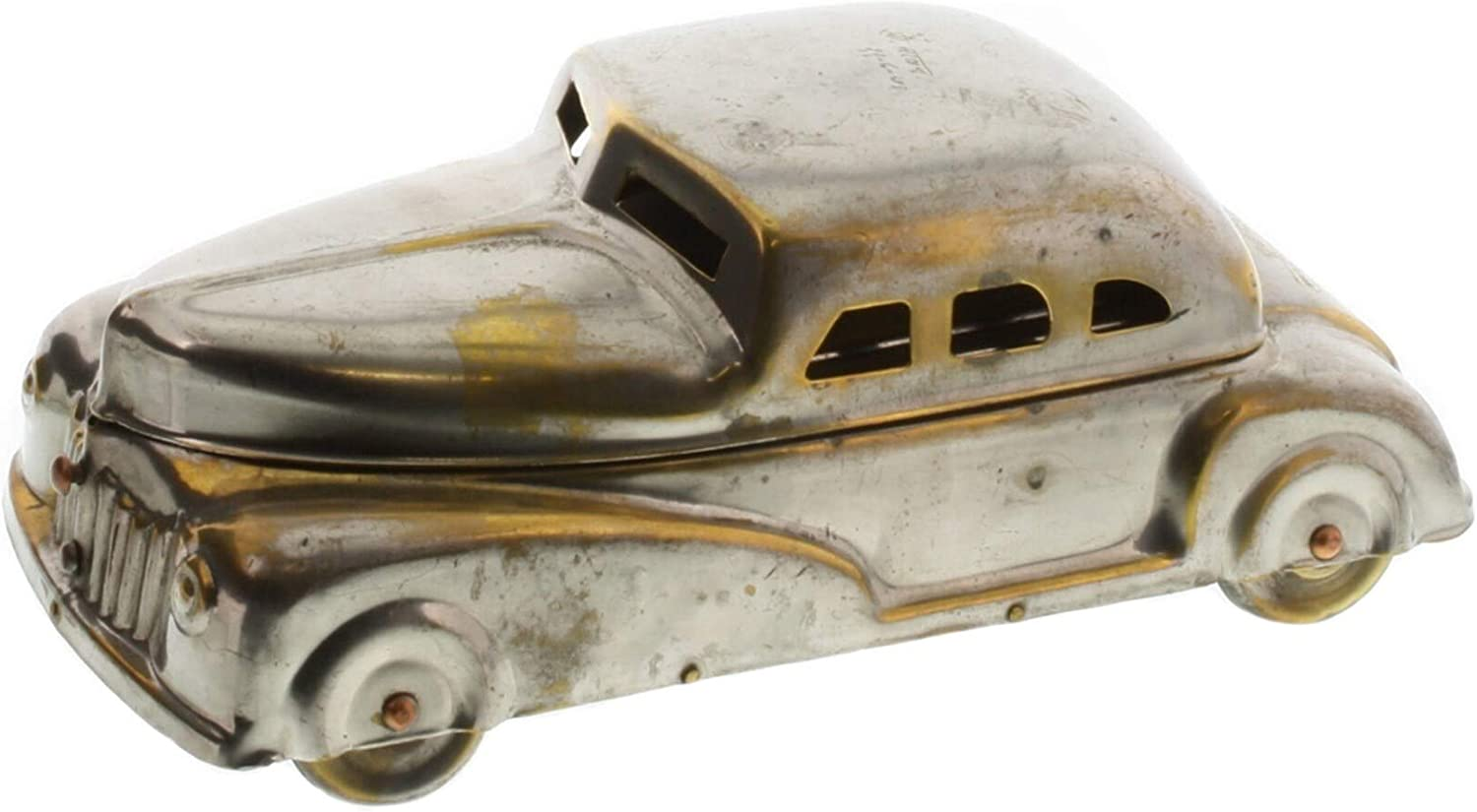 UKN Car Shaped Max 56% OFF Metal Frame Storage Brass Modern Louisville-Jefferson County Mall Silver and Box C