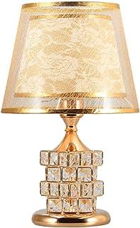 Belief Rebirth Lampe à Poser en Cristal avec veilleuse à LED, Abat-Jour en PVC Double Couche, Lampe de Chevet Art déco Mod...