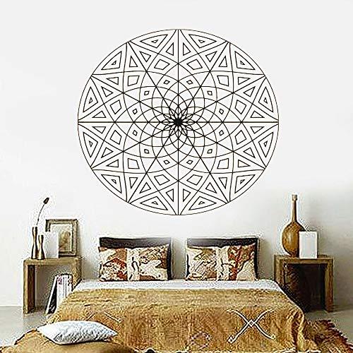 Mandala flor adorno tribal pegatina de pared Geomtric Yoga Design Studio calcomanías de pared para dormitorio Decaoration Mural A5 45x42cm