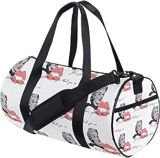 LEVEIS Marilyn Monroe Travel Tote Duffel Bag Carry on Bag Weekender Gym Bag For Men & Women