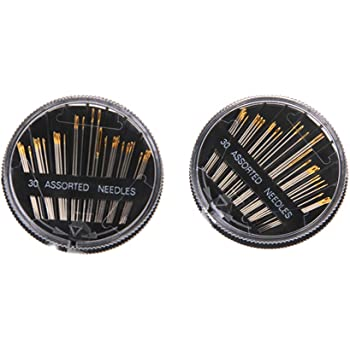 2 Pieces Premium Hand Sewing Needles Embroidery Mending Craft fit for Tailor Shop Sewing Repair (One Box 30 Pieces)