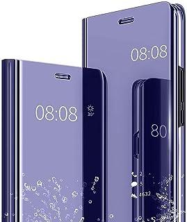 جراب واقٍ من الجلد بمسند بالكامل لهاتف Samsung Galaxy M31S، Mylne Clear View PC Mirror Effect Full body Kickstand لهاتف Sa...