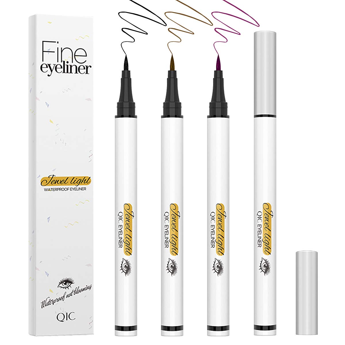 3 Free shipping New Colors Liquid Eyeliner Pen Eye Proof Waterproof Hypoallergenic Ranking integrated 1st place