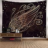 YDyun Tapiz Decoración Dormitorio o Sala de Estar Tapiz de Tela de Fondo de Arte de Plumas