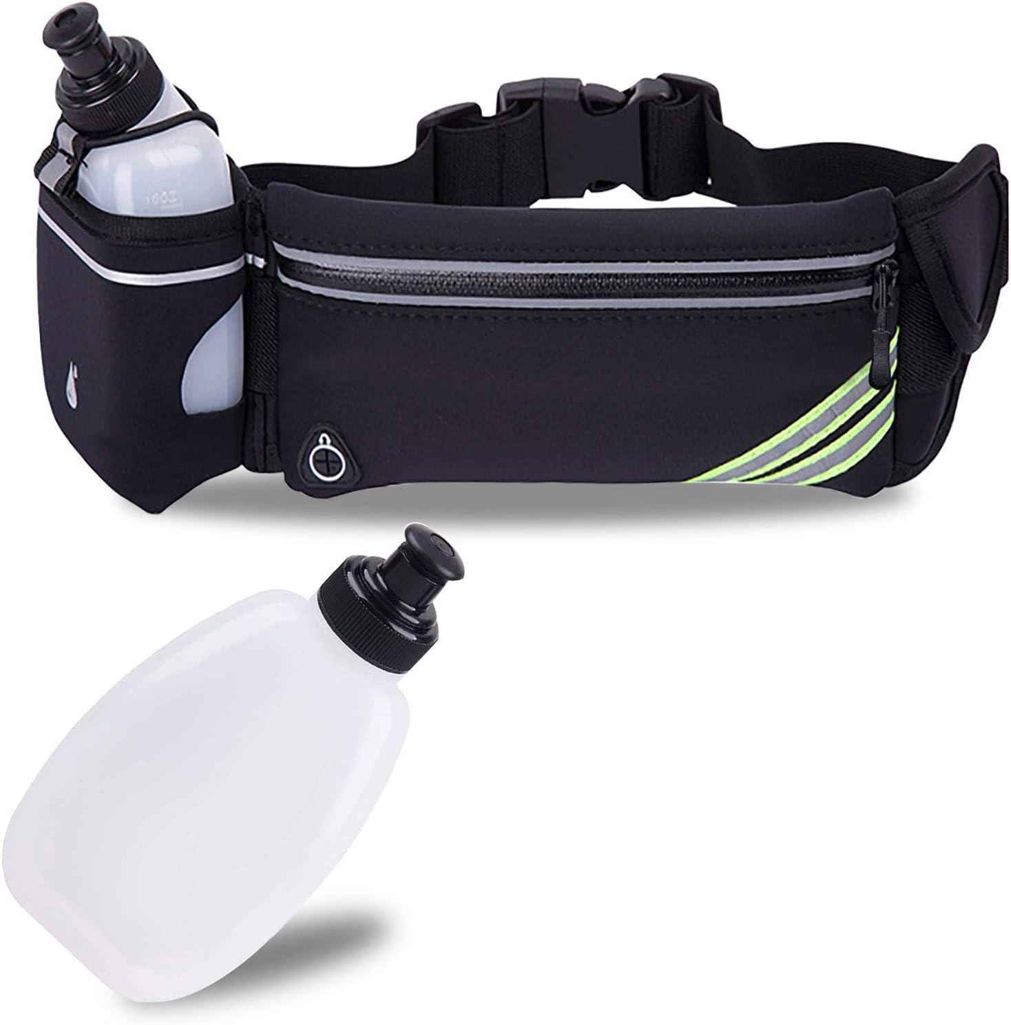 Waterproof Running Belt Fanny Pack Waist Zip Pouch Bum Bag Water Bottle Holder