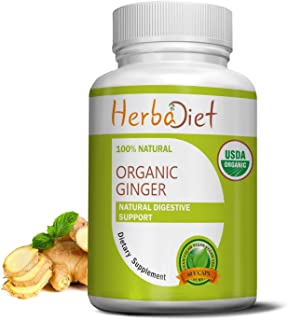Organic Ginger Root 400mg Capsules | Antioxidant, Metabolism Booster, Immune System & Digestive Support Supplement | Non-G...
