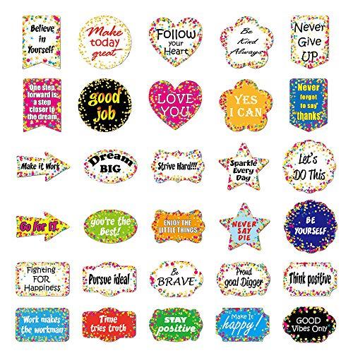 ATROPOS 120 Stück Konfetti positive Sprüche Akzente, abnehmbare Konfetti-Aufkleber für Klassenzimmer Pinnwand Dekorationen Zuhause Kinderzimmer Dekoration