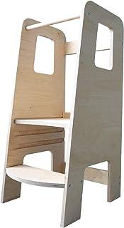 ully by moblì® | la primera Torre de Aprendizaje en madera natural | Hecha en Italia según los principios de Montessori | Diseñada por educadores expertos| Torre de Aprendizaje con estantes ajustables