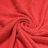Stoff Baumwolle Frottee rot Frotté zweiseitig