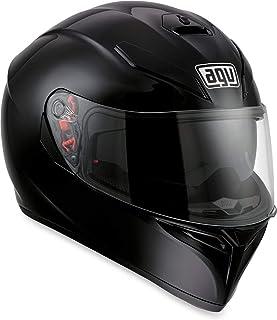 AGV K3 SV Solid Adult Street Motorcycle Helmet - Black/Medium/Small